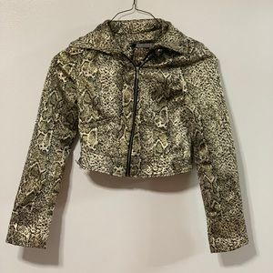 Day trip animal print jacket size small
